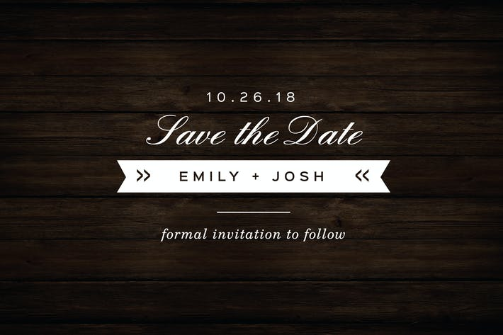 Thumbnail for Vintage Save The Date