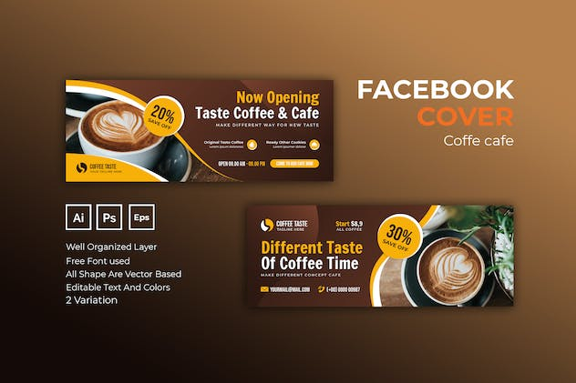 Coffee Cafe Facebook Cover