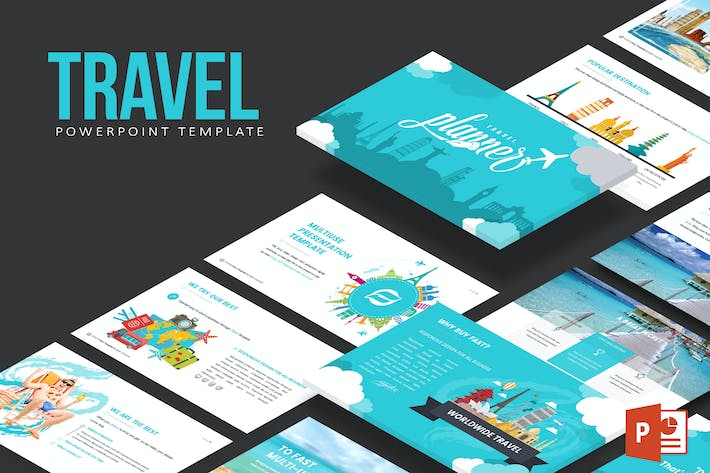 Travel Powerpoint Template by inspirasign on Envato Elements