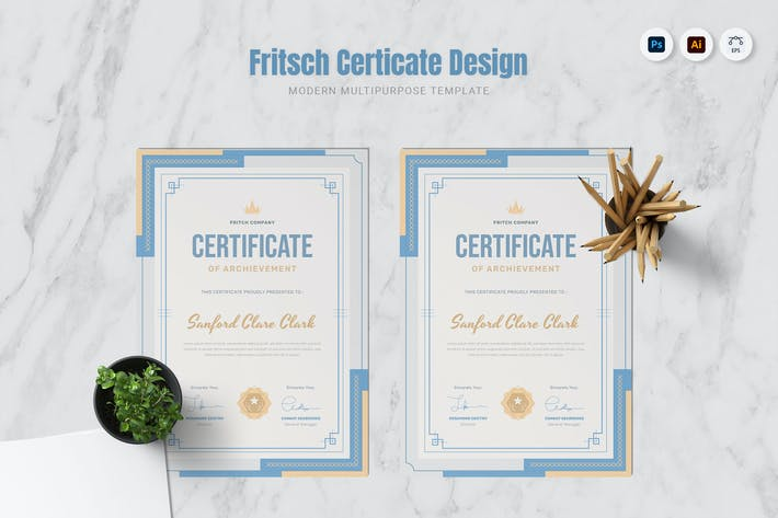 Thumbnail for Fritsch Company Certificate
