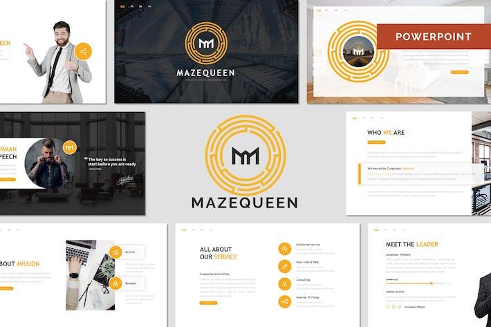 Thumbnail for Mazeeen - бизнес Шаблон Powerpoint