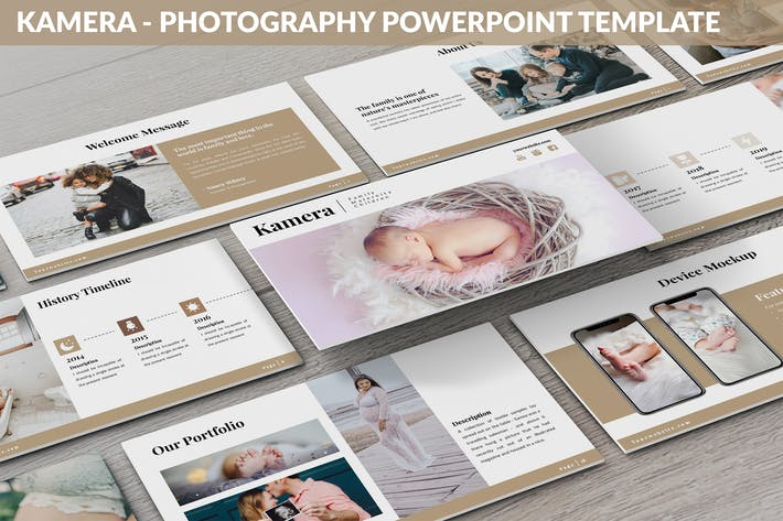 Thumbnail for Kamera - Photography Powerpoint Template