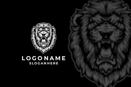 Lion Roaring Logo Design