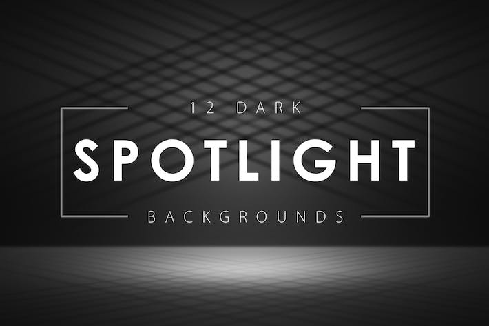 Thumbnail for 12 Dark Spotlight Backgrounds
