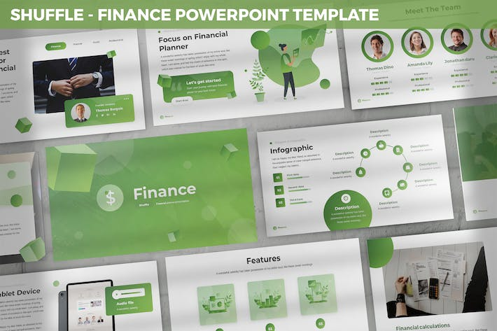 Thumbnail for Shuffle - Finance Powerpoint Template