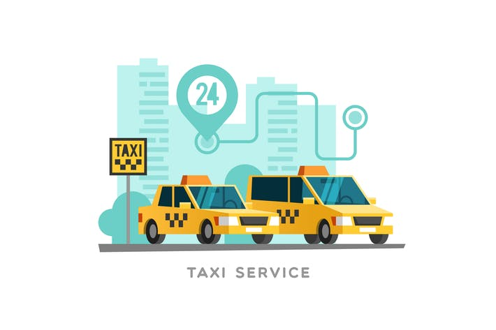 Cover Image For Taxi Service Concept