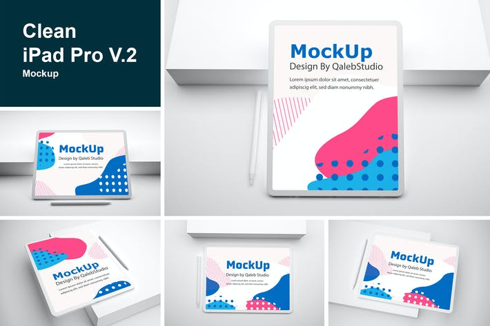 Clean iPad Pro V.2 Mockup