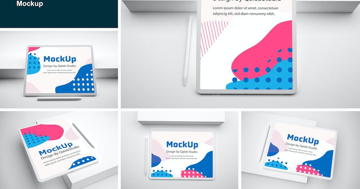 Download Clean iPad Pro V.2 Mockup by QalebStudio