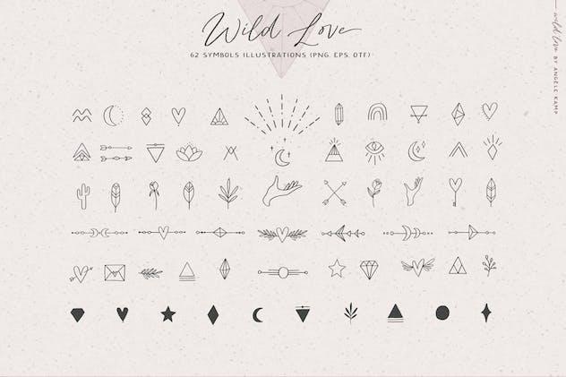 Wild Love Symbols