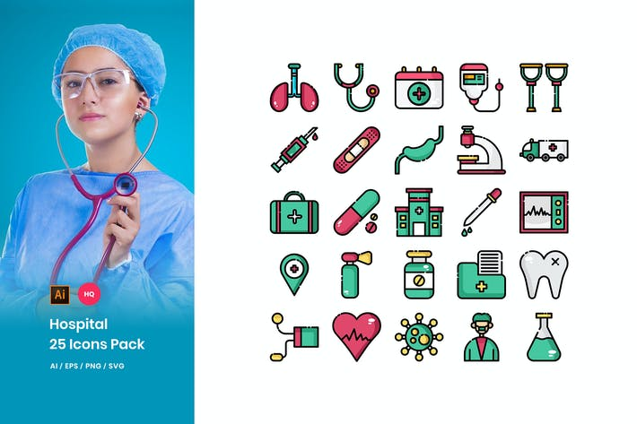 Thumbnail for Hospital Icons Pack