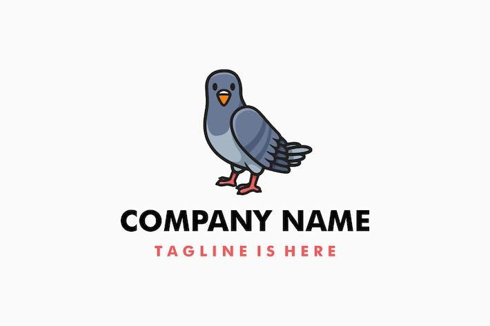 Thumbnail for Cute Pigeon Cartoon Logo