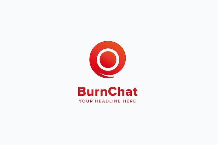 Thumbnail for Burn Chat Logo Template