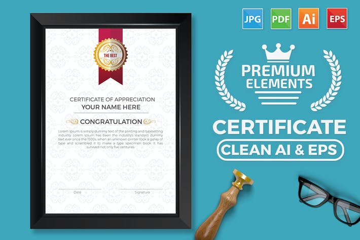 Thumbnail for Business Certificate Template Design