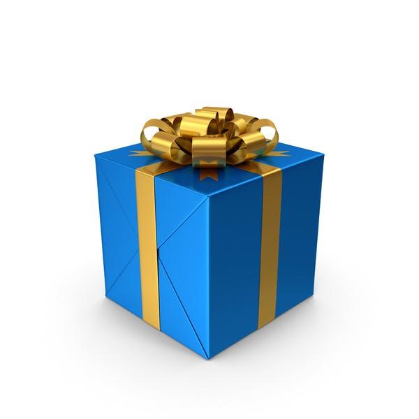 Caja de regalo azul.