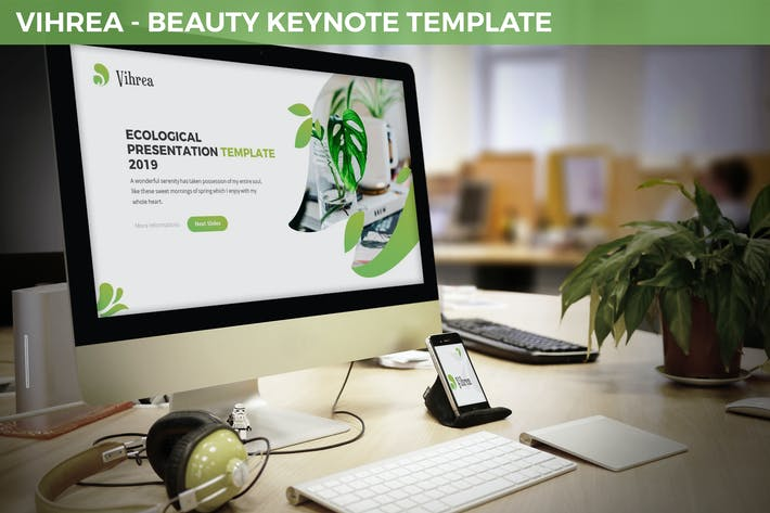 Thumbnail for Vihrea - Beauty Keynote Template