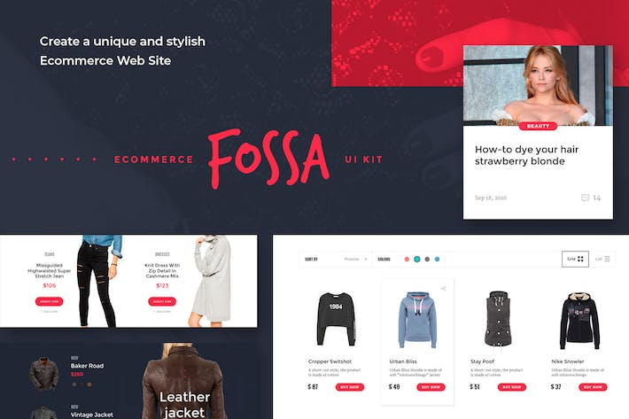 Thumbnail for Fossa Ecommerce UI Kit