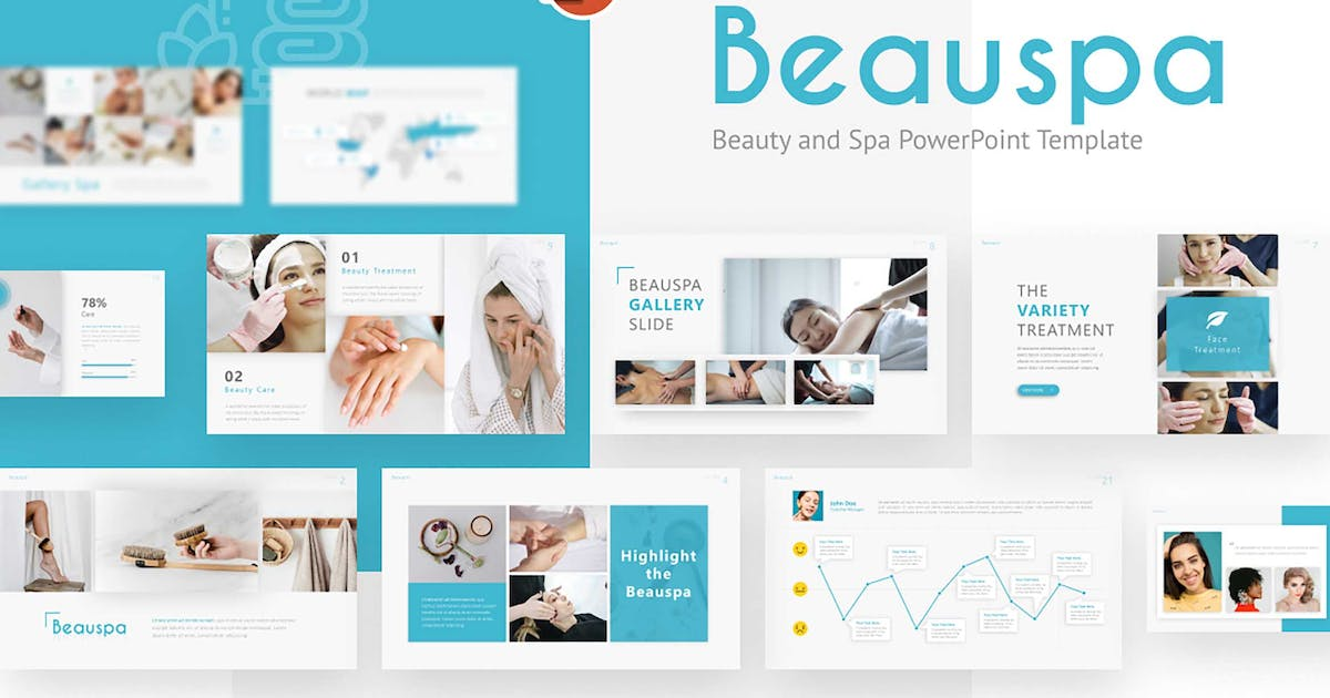 Download Beauspa Beauty Modern Powerpoint Template by RRgraph