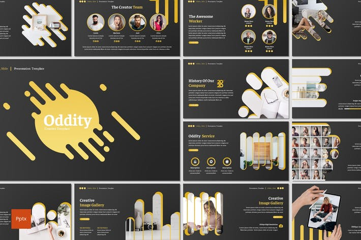 Thumbnail for Oddity - Powerpoint Template