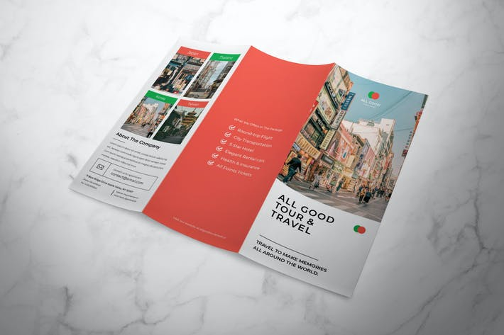 Thumbnail for Travel Trifold Brochure