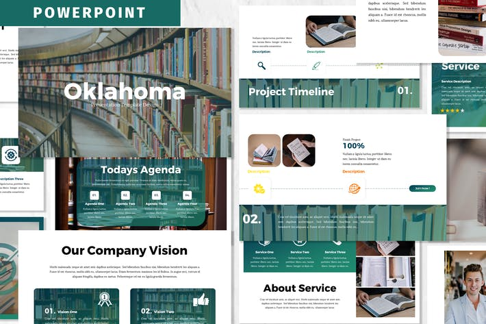 Оклахома - Шаблон Powerpoint для бизнеса