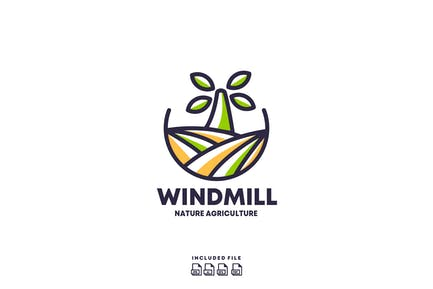 Windmill Agriculture Logo Design