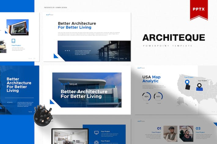 Thumbnail for Architeque | Powerpoint Template