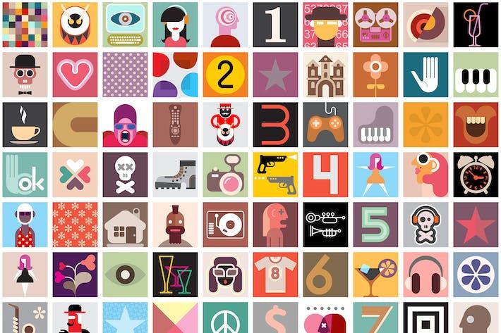 Art Collage Vector Seamless Wallpaper