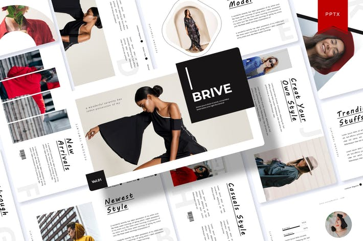 Thumbnail for Brive | Powerpoint Template