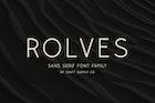 Rolves - Sans Serif Font Family | 8 Fonts