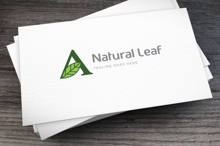 Cover Image For Natural Leaf Letter A Logo Template