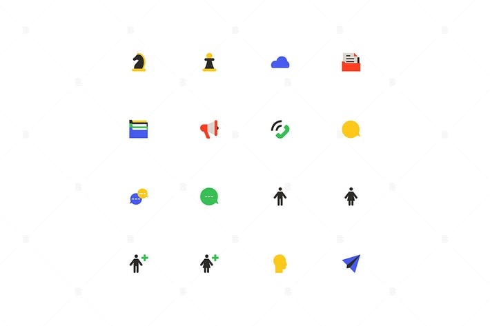 Thumbnail for Business and marketing - material design icons