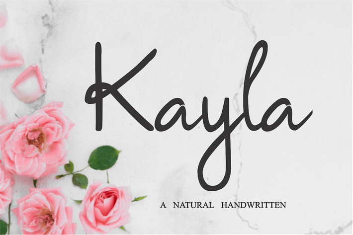 Thumbnail for Kayla - Fuente natural manuscrita