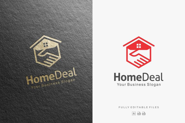 Thumbnail for Abstract Home Deal Logo Template