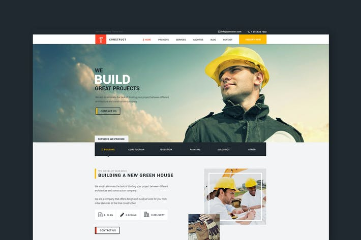 Thumbnail for Construct: Building and Construction HTML Template