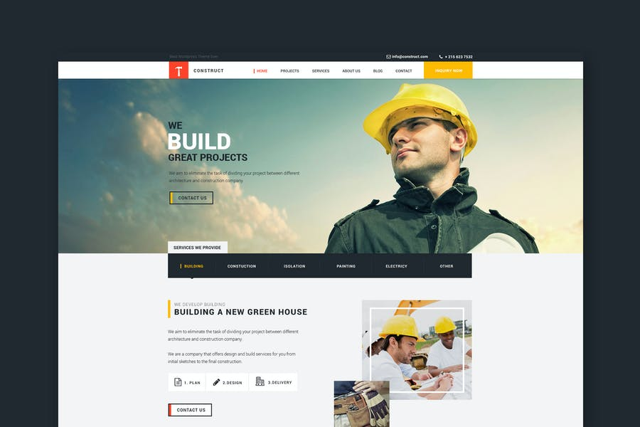 Construct: Building and Construction HTML Template