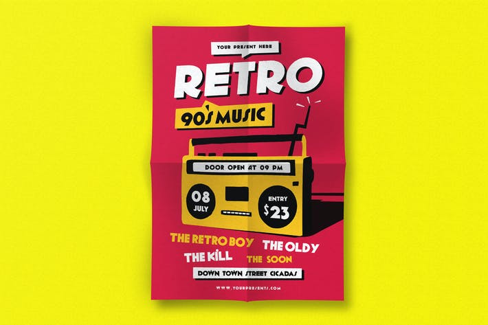 Thumbnail for Retro Music Flyer