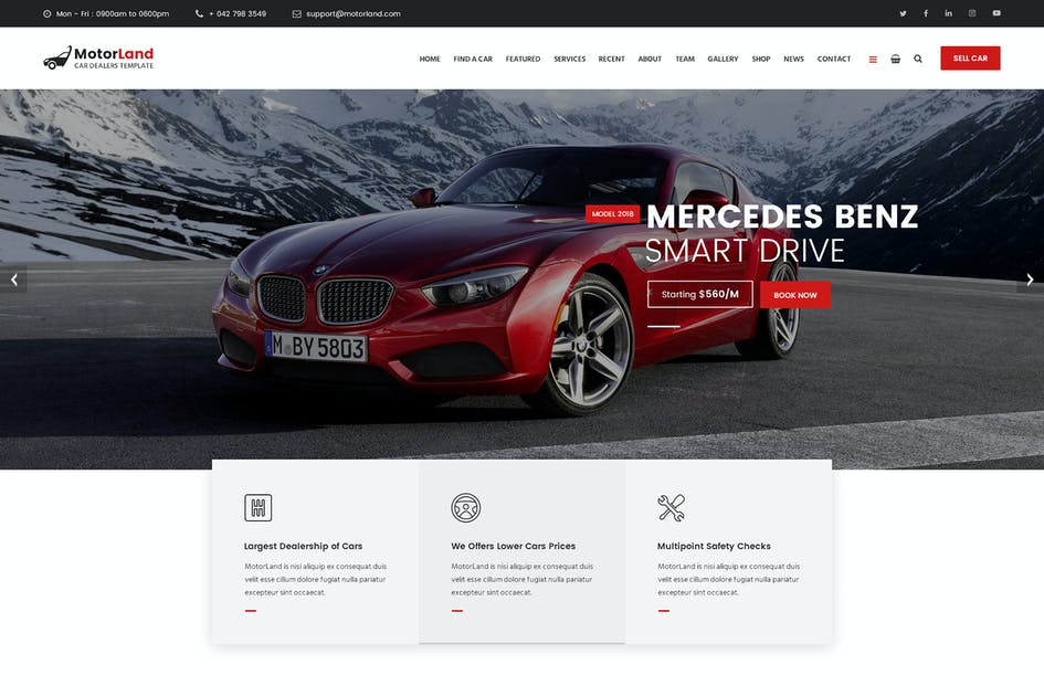 Download MOTORLAND -  PSD by Templines