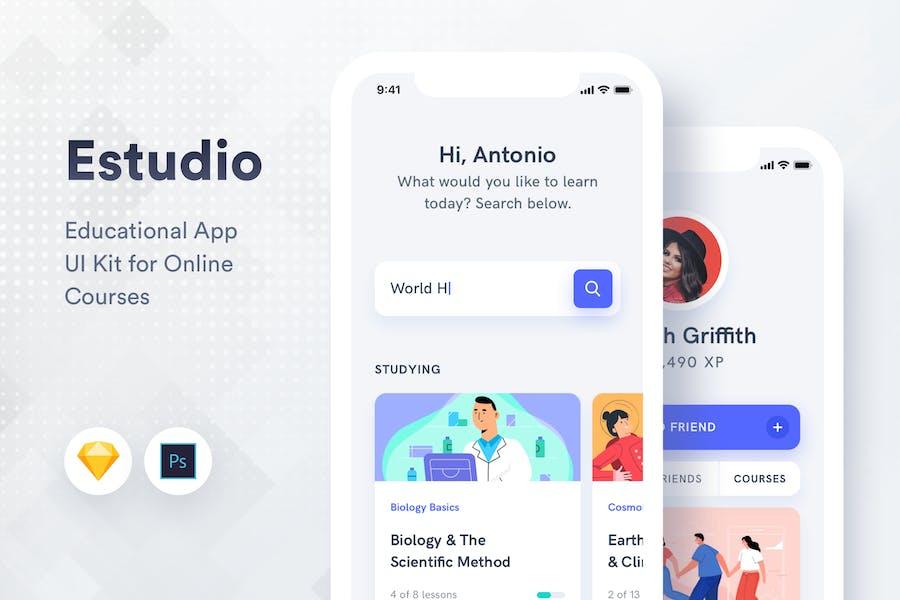 Estudio - Educational Mobile App UI
