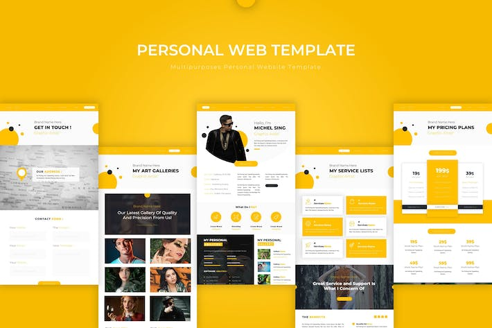 Thumbnail for Personal | PSD Web Template