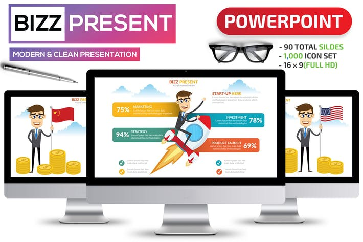 Thumbnail for Bizz & Startup Powerpoint Template