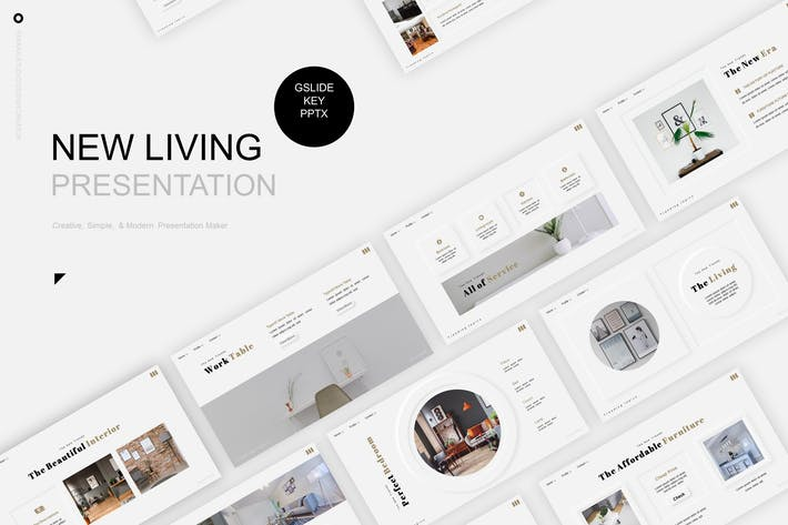 Thumbnail for New Living Presentation Template