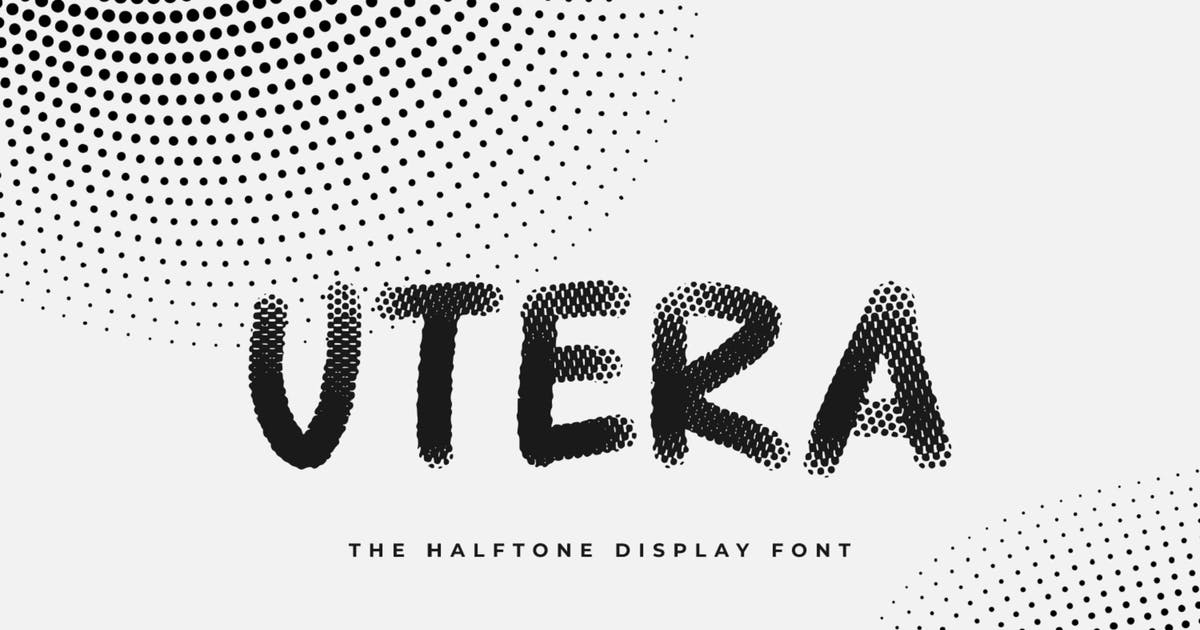 Download Utera - The Halftone Display Font by Graphicfresh