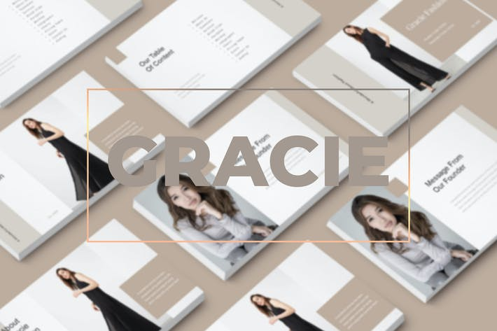 Thumbnail for Gracie - Modern Style Keynote Template