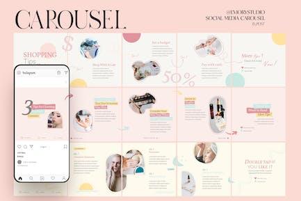 2021 Beauty Advisor - Carousel Instagram Template