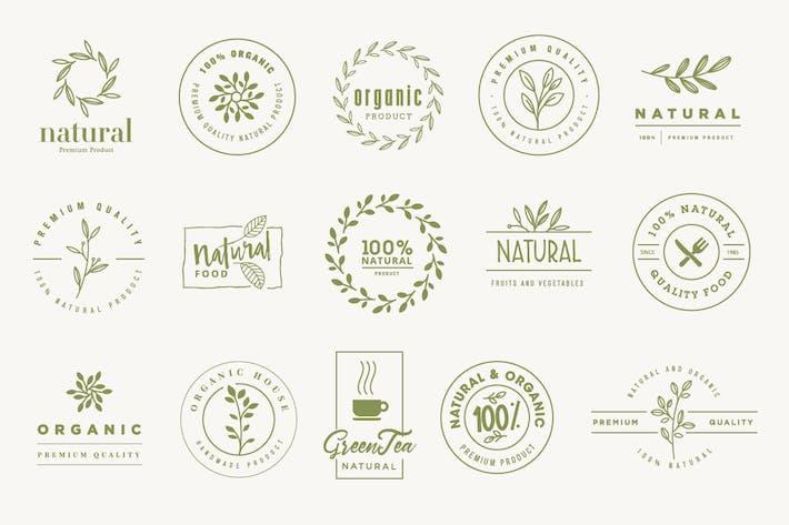 Thumbnail for Set von Schildern für Bio- und Naturprodukte