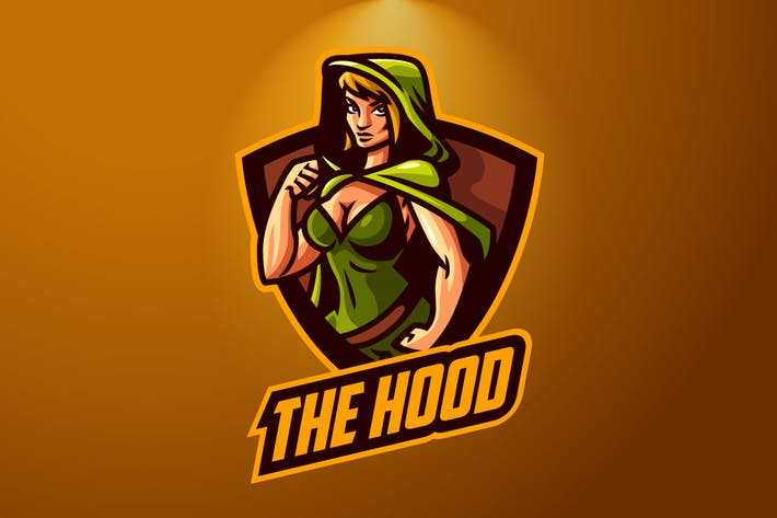 Green Riding Hood Mascot Esports Logo