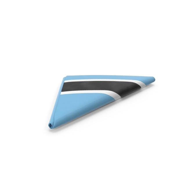 Flag Folded Triangle Botswana