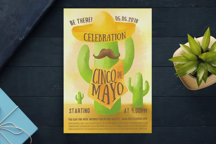 Cover Image For Cinco De Mayo Flyer Template