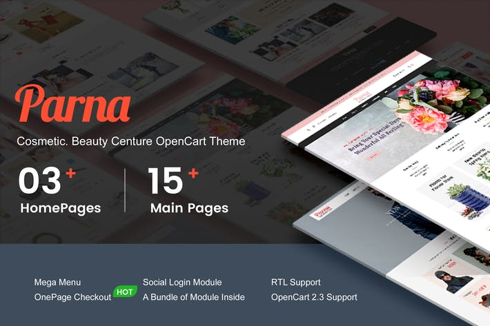 Thumbnail for Parna - Cosmetic, Beauty OpenCart 2.3 Theme