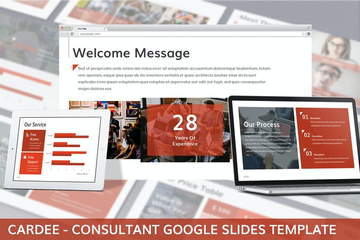 Thumbnail for Cardee - Consultant Google Slides Template